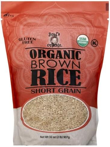 Brads Organic Organic, Short Grain Brown Rice - 32 oz