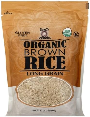 Brads Organic Organic, Long Grain Brown Rice - 32 oz