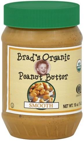 Brads Organic Smooth Peanut Butter - 18 oz