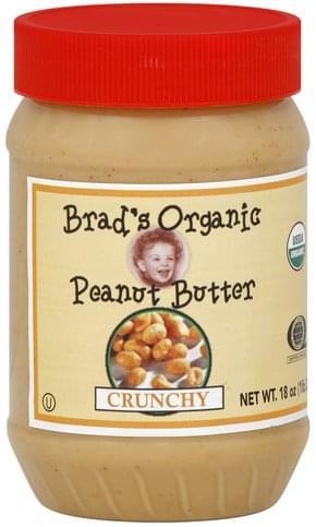 Brads Organic Crunchy Peanut Butter - 18 oz