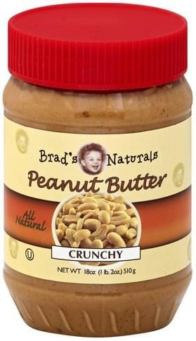 Brads Naturals Crunchy Peanut Butter - 18 oz