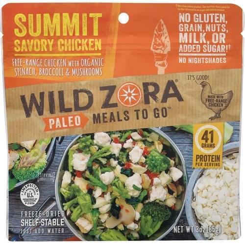 Wild Zora Paleo, Summit Savory Chicken Freeze-Dried Meal - 3 oz