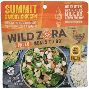 Wild Zora Freeze-Dried Meal Paleo, Summit Savory Chicken