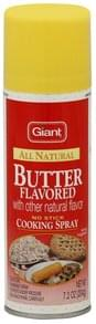 Giant Cooking Spray Butter Flavored, No Stick