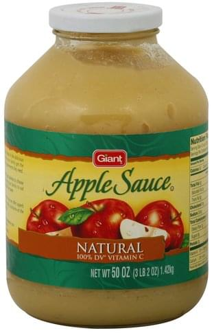 Giant Natural Apple Sauce - 50 oz