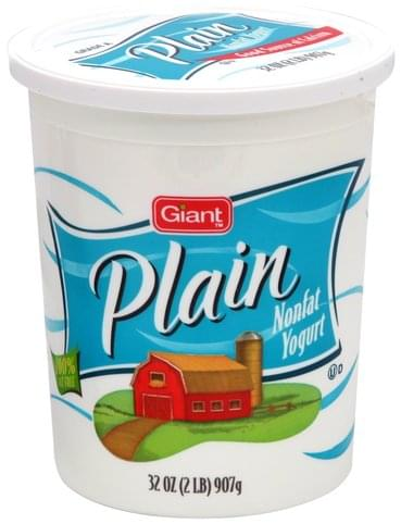 Giant Plain Nonfat Yogurt - 32 oz