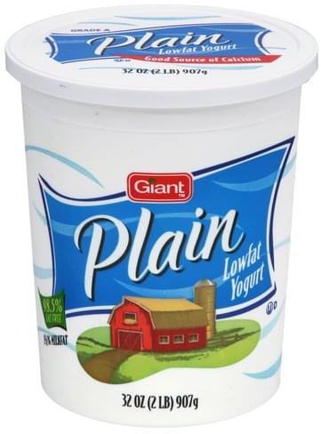 Giant Plain Lowfat Yogurt - 32 oz