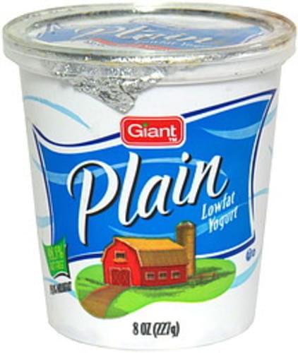 Giant Plain Lowfat Yogurt - 8 oz