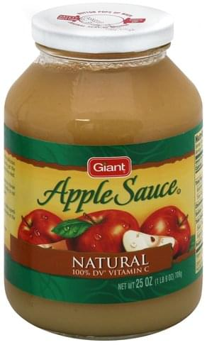 Giant Natural Apple Sauce - 25 oz