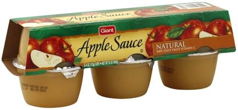 Giant Natural Apple Sauce - 6 ea