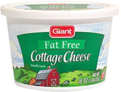 Deans Small Curd, Fat Free Cottage Cheese - 1 lb, Nutrition