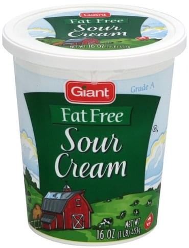 Giant Fat Free Sour Cream - 16 oz