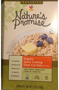 Giant Nature's Promise Organic Quick Cooking Steel Cut Oats