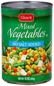 Giant Mixed Vegetables No Salt Added