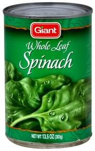 Giant Spinach Whole Leaf