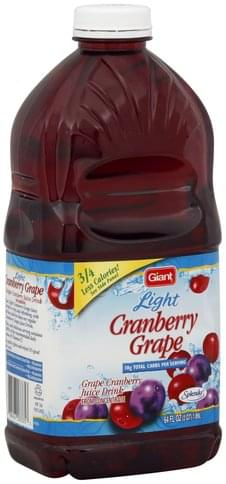 Giant Cranberry Grape, Light Juice Drink - 64 oz