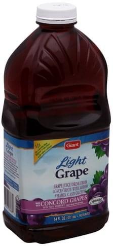 Giant Grape, Light Juice Drink - 64 oz