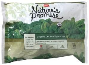 Natures Promise Organic Cut Leaf Spinach