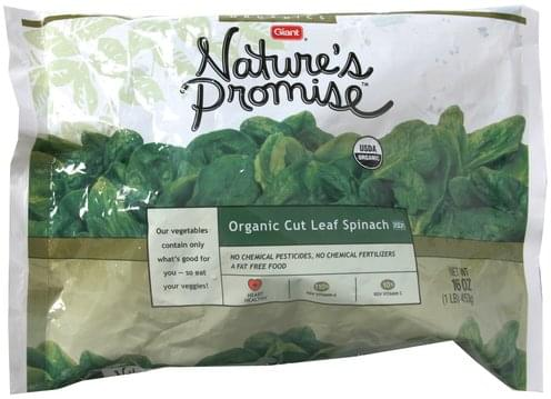 Natures Promise Organic Cut Leaf Spinach - 16 oz