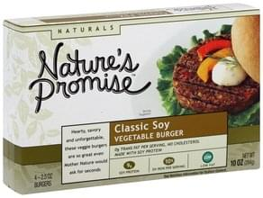 Natures Promise Vegetable Burger Classic Soy