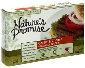 Natures Promise Vegetable Burger Garlic & Cheese