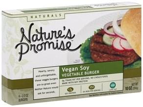 Natures Promise Vegetable Burger Vegan Soy