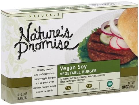 Natures Promise Vegan Soy Vegetable Burger - 4 ea