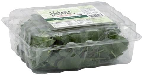 Natures Promise Organic Baby Spinach - 7 oz