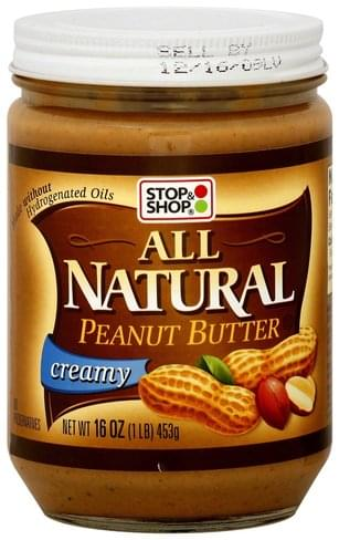 Stop & Shop Creamy Peanut Butter - 16 oz