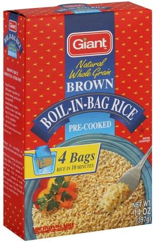 Giant Boil-in-Bag, Brown Rice - 14 oz