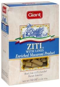 Giant Ziti with Lines