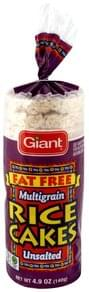 Giant Rice Cakes Fat Free, Unsalted, Multigrain