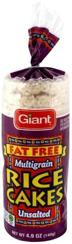 Giant Fat Free, Unsalted, Multigrain Rice Cakes - 4.9 oz