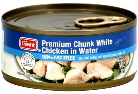 Giant in Water Premium Chunk White Chicken - 5 oz