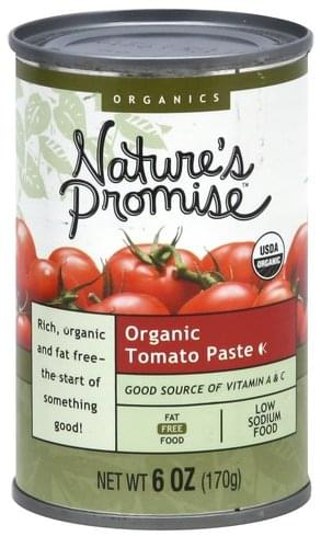 Natures Promise Organic Tomato Paste - 6 oz