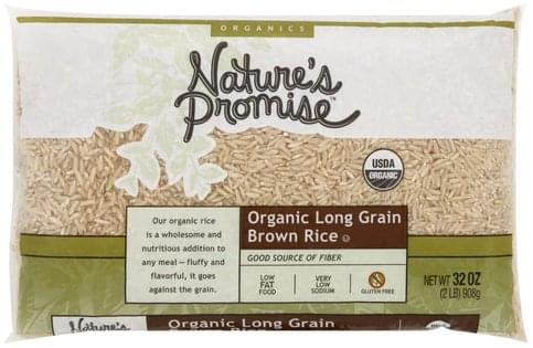 Natures Promise Organic Long Grain Brown Rice - 32 oz