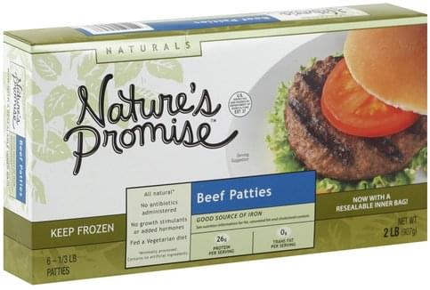 Natures Promise Beef Patties - 6 ea