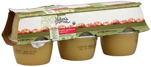 Natures Promise Organic, Unsweetened Applesauce - 6 ea