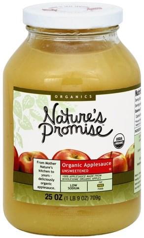 Natures Promise Organic, Unsweetened Applesauce - 25 oz