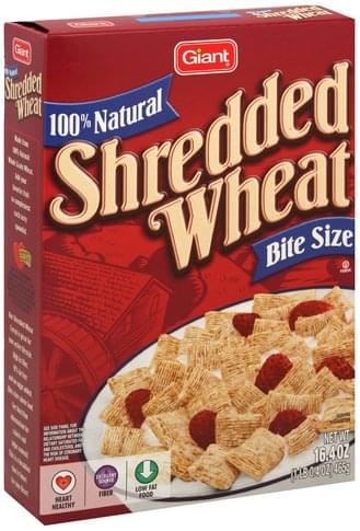 Stop & Shop Shredded Wheat, Bite Size Cereal - 16.4 oz