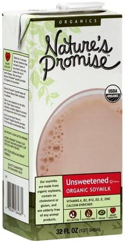 Natures Promise Unsweetened Soymilk - 32 oz
