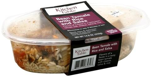 Kitchen Table Bean Tamale with Rice and Salsa - 14.8 oz
