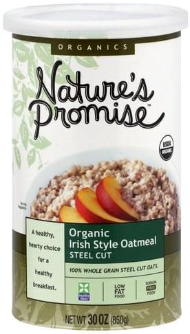Natures Promise Steel Cut, Irish Style Oatmeal - 30 oz