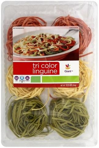 Giant Linguine, Tri Color Pasta - 12.5 oz