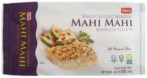 Giant Mahi Mahi Fillets Boneless, Wild Caught, Skinless