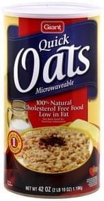 Giant Quick Oats Microwavable