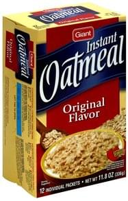 Giant Instant Oatmeal Original Flavor