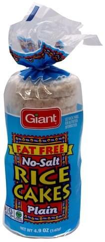 Giant Plain No-Salt Rice Cakes - 4.9 oz