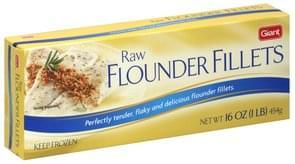 Giant Flounder Fillets Raw
