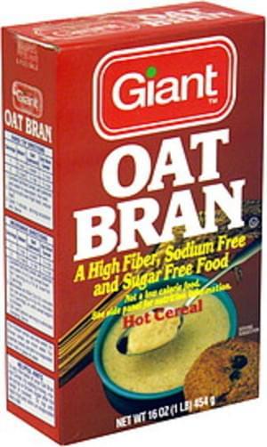 Giant Hot Cereal Oat Bran - 16 oz
